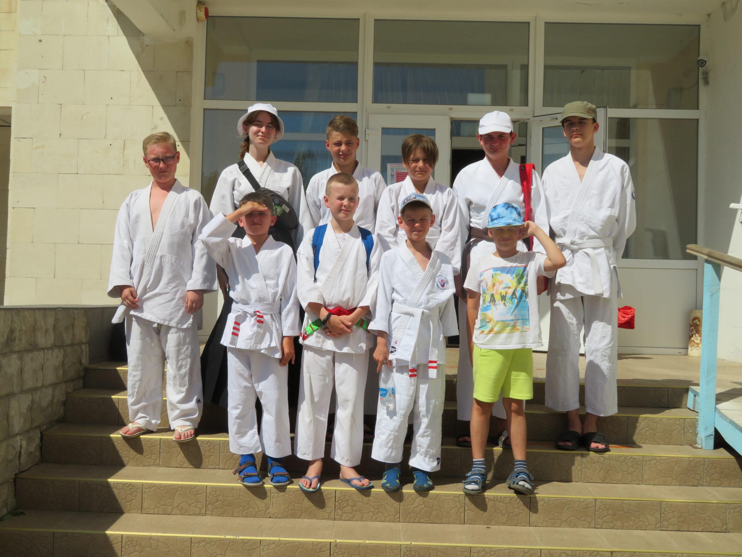 Детский спортивный лагерь айкидо.
